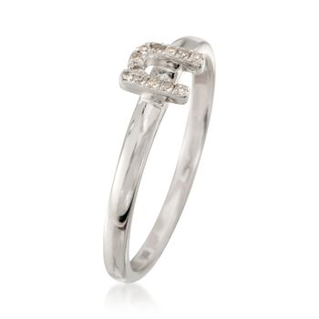 """Diamond Accent Mini Initial """"N"""" Ring in Sterling Silver, , default"""