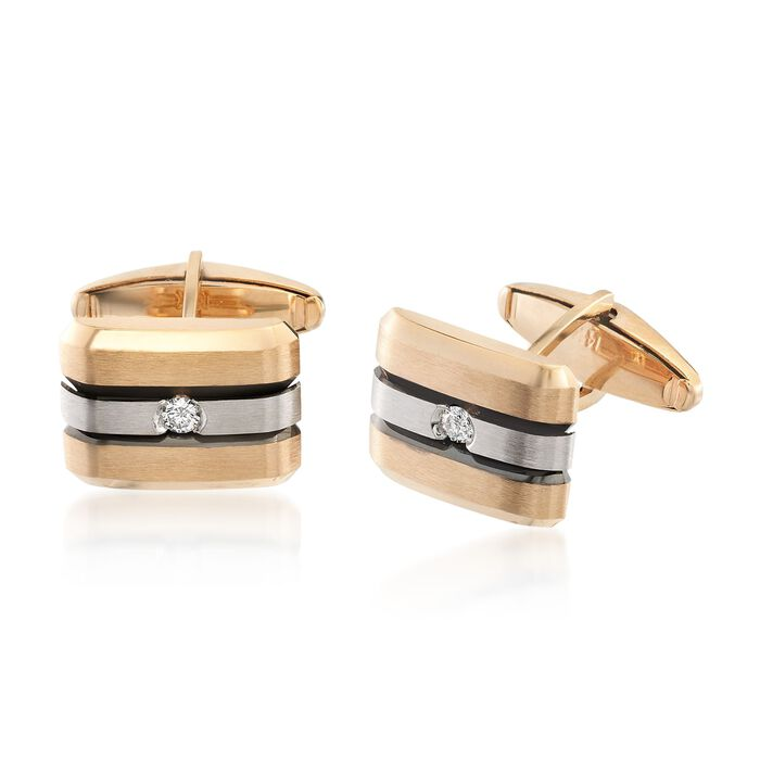 .20 ct. t.w. Diamond Cuff Links in 14kt Two-Tone Gold , , default