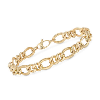 Italian 14kt Yellow Gold Multi-Link Bracelet