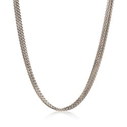 "C. 1990 Vintage 14kt White Gold Five-Strand Cable Chain Necklace. 16"", , default"
