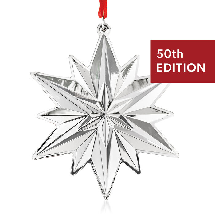 Gorham 2019 Annual Sterling Silver Snowflake Ornament - 50th Edition, , default