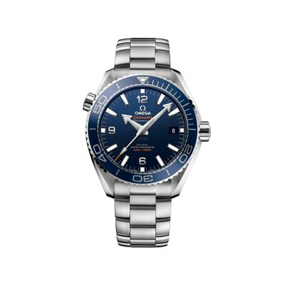 Omega Seamaster Planet Ocean Men's 43.5mm Stainless Steel Watch with Blue Dial