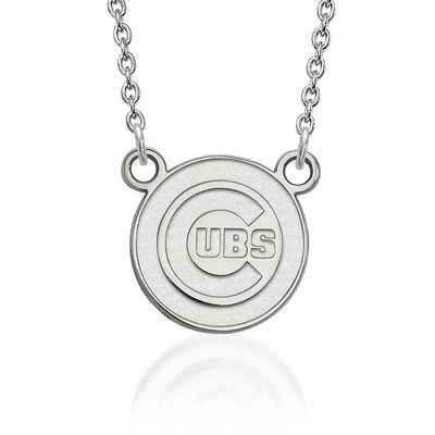 Sterling Silver MLB Chicago Cubs Pendant Necklace. 18""