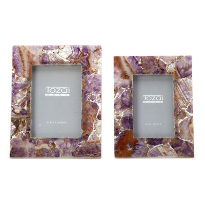 Set of Two Amethyst Photo Frames , , default