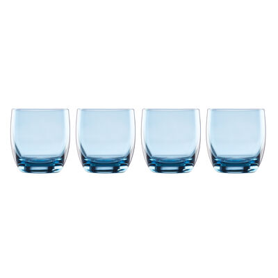 "Lenox ""Valencia"" Set of 4 Blue Double Old-Fashioned Glasses, , default"