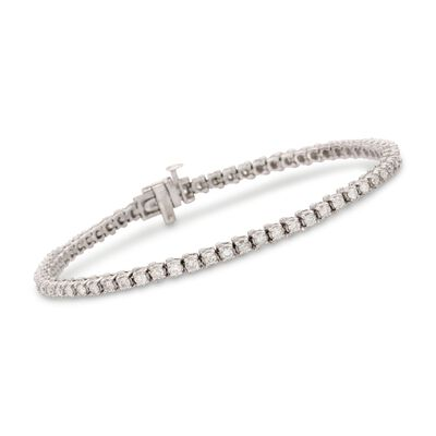 2.00 ct. t.w. Diamond Tennis Bracelet in Sterling Silver, , default