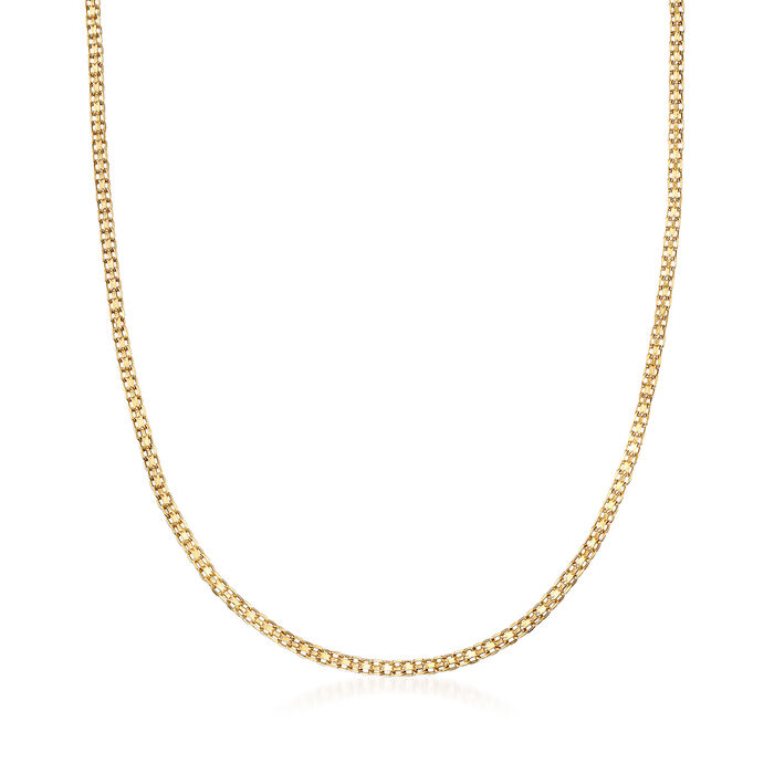Italian 14kt Yellow Gold Bismark-Link Necklace, , default