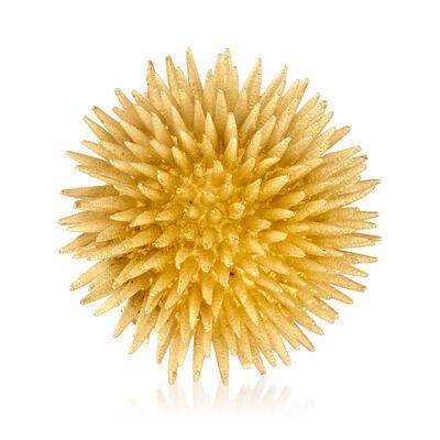 C. 1980 Vintage Tiffany Jewelry 18kt Yellow Gold Sea Urchin Pin