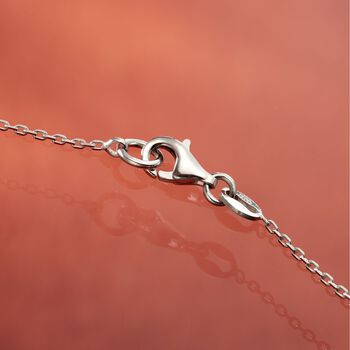 "Italian Sterling Silver Love Knot Pendant Necklace. 18"", , default"