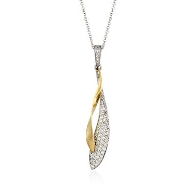 Simon G. .39 ct. t.w. Diamond Pendant Necklace in 18kt Two-Tone Gold, , default