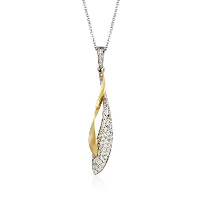 Simon G. .39 ct. t.w. Diamond Pendant Necklace in 18kt Two-Tone Gold