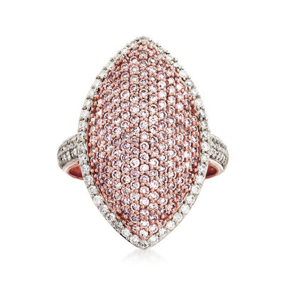 1.61 ct. t.w. Pink and White Diamond Ring in 18kt Rose Gold, , default