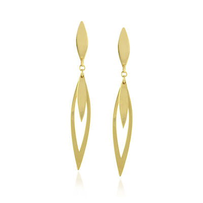 14kt Yellow Gold Marquise Drop Earrings