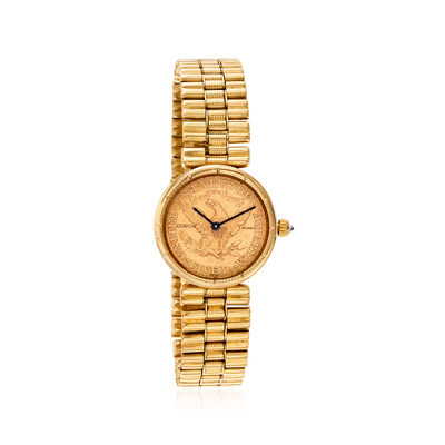 C. 1898 Vintage Corum Women's 24mm 22kt Yellow Gold Coin Watch in 18kt Yellow Gold
