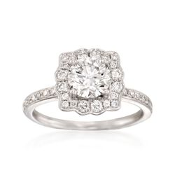 1.47 ct. t.w. Certified Diamond Engagement Ring in 18kt White Gold, , default