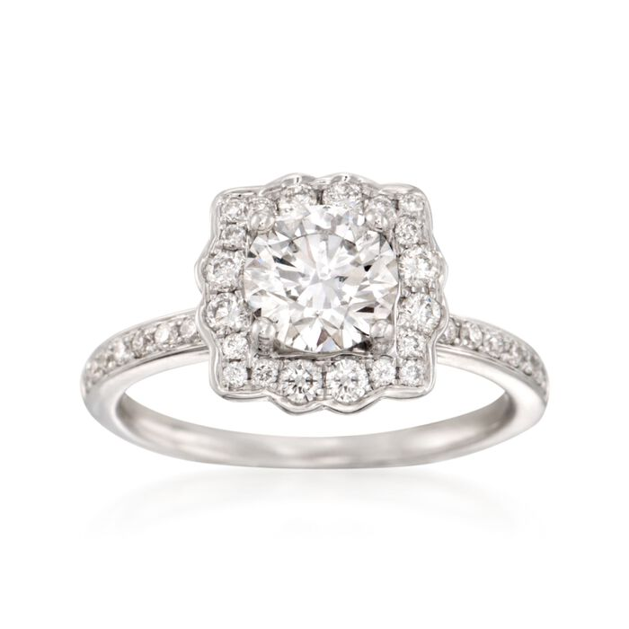 1.47 ct. t.w. Certified Diamond Engagement Ring in 18kt ... - photo #16
