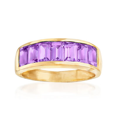 2.00 ct. t.w. Amethyst Ring in 14kt Yellow Gold, , default