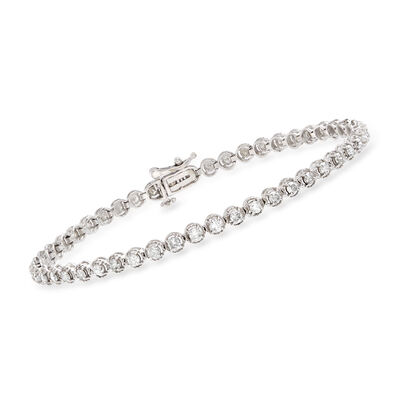 2.00 ct. t.w. Diamond Bracelet in 14kt White Gold, , default