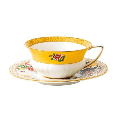 "Wedgwood ""Wonderlust"" Primrose 2-pc. Teacup and Saucer Set, , default"