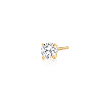 .25 Carat Diamond Single Stud Earring in 14kt Yellow Gold