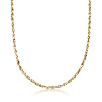 18kt Yellow Gold Multi-Circle Twisted Link Necklace, , default