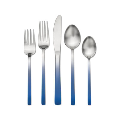 "Skandia ""Biltmore Accents"" 20-pc. Blue Ombre 18/0 Stainless Steel Flatware Set, , default"