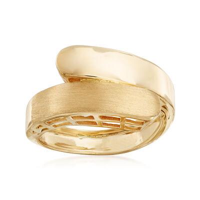 Italian 14kt Yellow Gold Satin Wrap Ring, , default