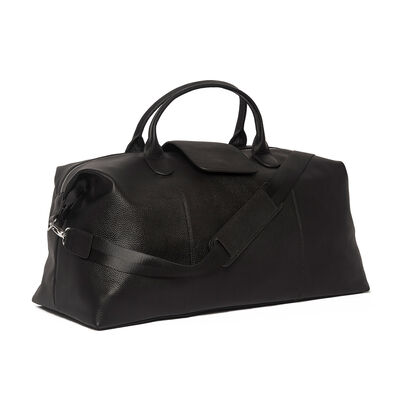 """Brouk and Co. """"Standford"""" Black Genuine Leather Duffel Bag, , default"""