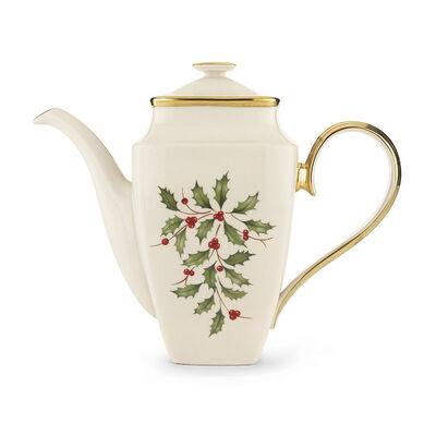 """Lenox """"Holiday"""" Square Coffee Pot with Lid, , default"""