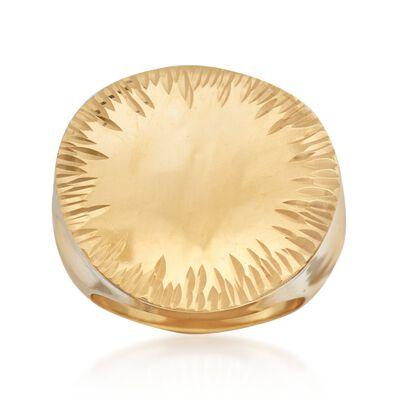 Italian 18kt Gold Over Sterling Ring, , default