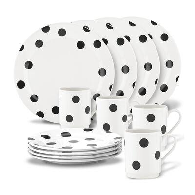 "Kate Spade New York 12-pc. ""Deco Dot"" Dinnerware Set, , default"