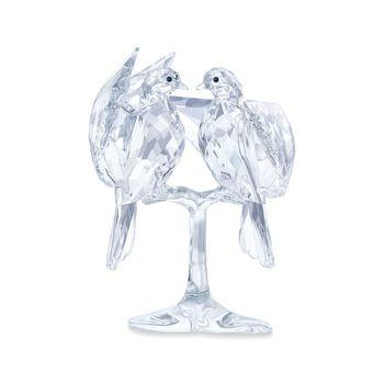 """Swarovski Crystal """"Turtle Doves on a Branch"""" Figurine, , default"""