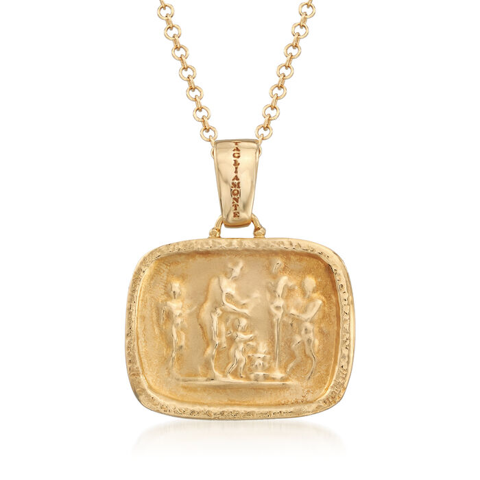 Italian Tagliamonte Tribute to Pan Pendant Necklace in 18kt Gold Over Sterling, , default