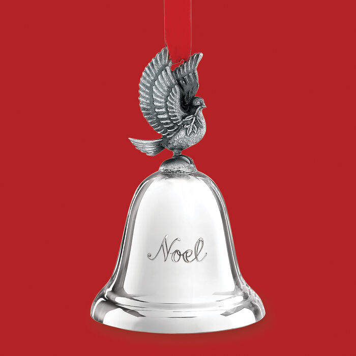 Reed and Barton 2020 Annual Silver Plate Noel Musical Bell Ornament - 40th Edition