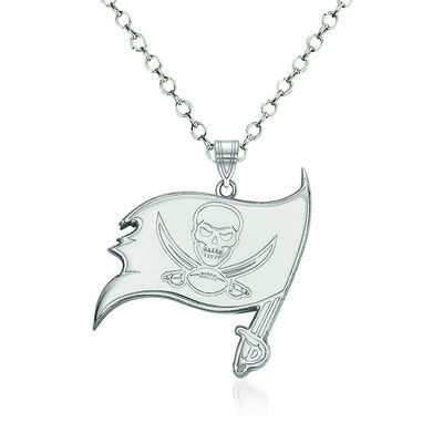 "Sterling Silver NFL Tampa Bay Buccaneers Pendant Necklace. 18"", , default"