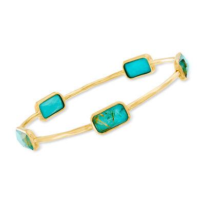 "C. 2000 Vintage Ippolita ""Rock Candy"" Gelato Turquoise Bangle Bracelet"