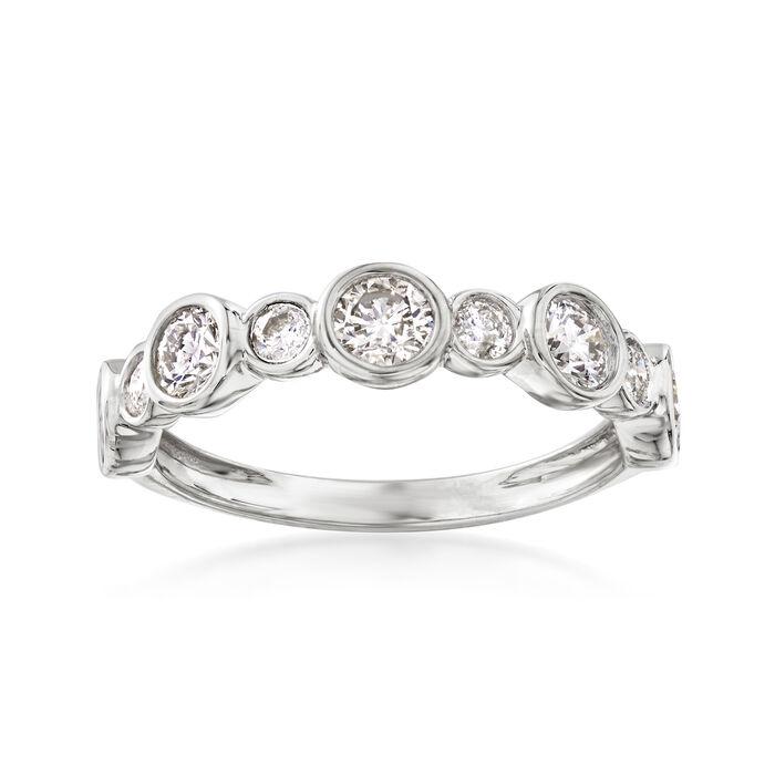1.00 Carat Bezel-Set Diamond Ring in 14kt White Gold