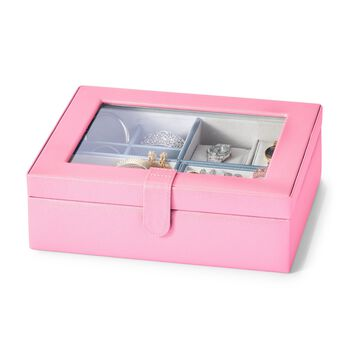 Pink Faux Leather Perfect Luxury Jewelry Box