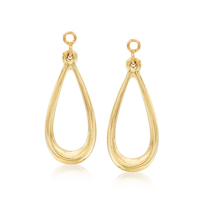 14kt Yellow Gold Open Teardrop Earring Jackets, , default