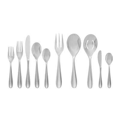 """Nambe 45-pc. """"Paige"""" Stainless Steel Flatware Set, , default"""