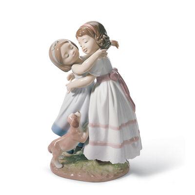 """Lladro """"Give Me a Hug"""" Porcelain Figurine"""