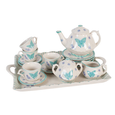 Child's Porcelain Butterfly Tea Set