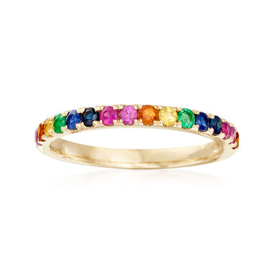 .56 ct. t.w. Mixed Gemstone Ring in 14kt Yellow Gold, , default