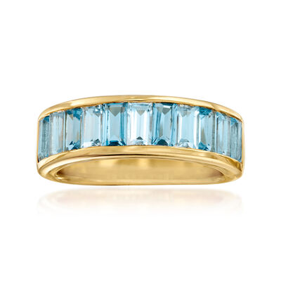 2.60 ct. t.w. Swiss and Sky Blue Topaz Ring in 18kt Gold Over Sterling, , default
