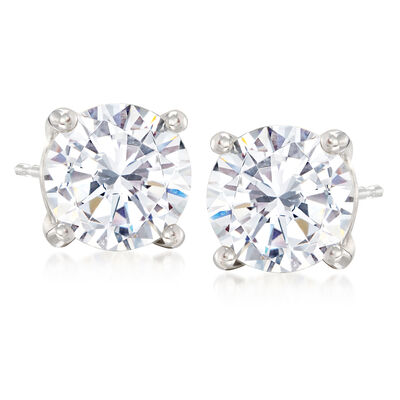 5.00 ct. t.w. CZ Stud Earrings in Sterling Silver