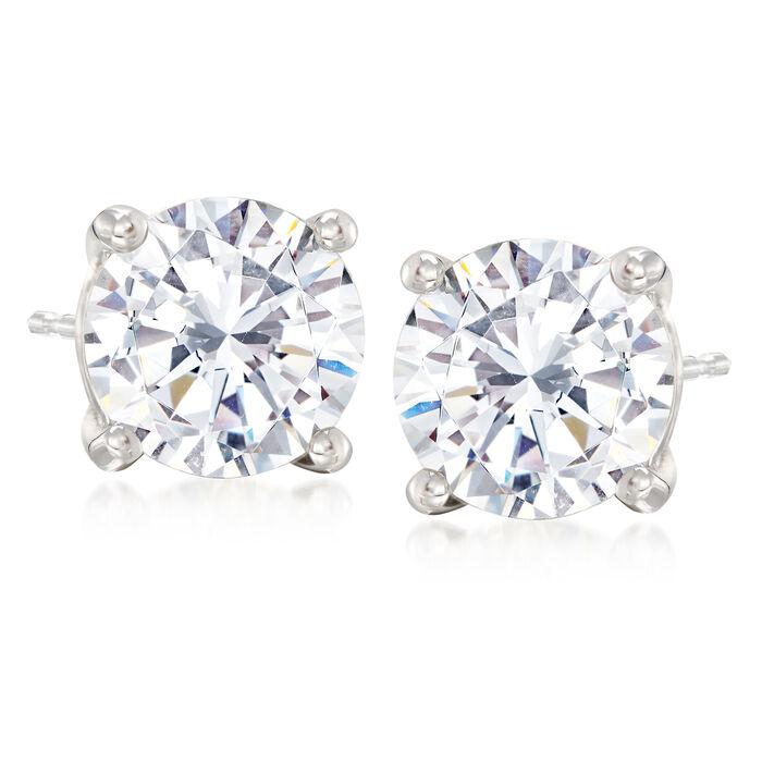 5.00 ct. t.w. CZ Stud Earrings in Sterling Silver , , default