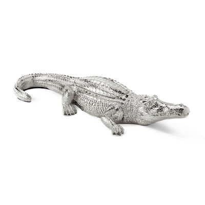 Thompson Ferrier Grand Alligator Silver-Colored Scented Candle , , default