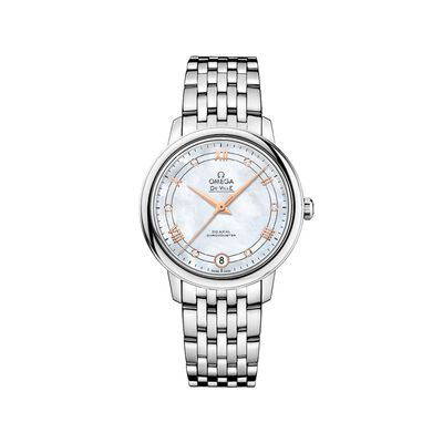 Omega De Ville Prestige Women's 32.7mm Mother-Of-Pearl Watch in Stainless Steel, , default
