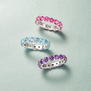 4.50 ct. t.w. Pink Topaz Eternity Band in Sterling Silver, , default