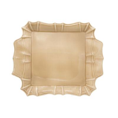 """Euro Ceramica """"Chloe"""" Taupe Square Platter, , default"""